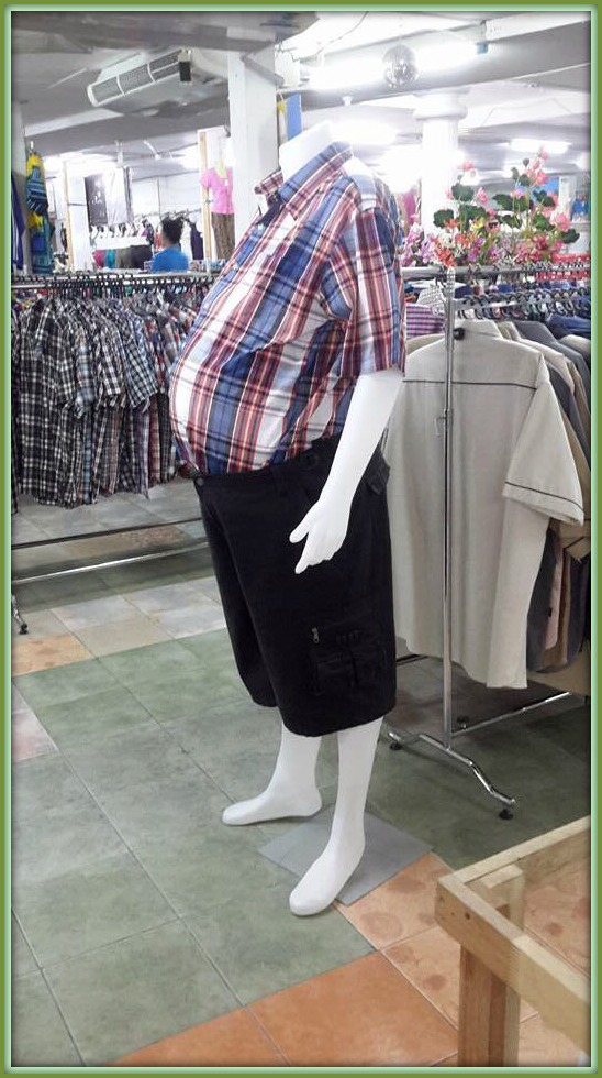 A la mode or maternity mannequin mix-up? Pick your wild!